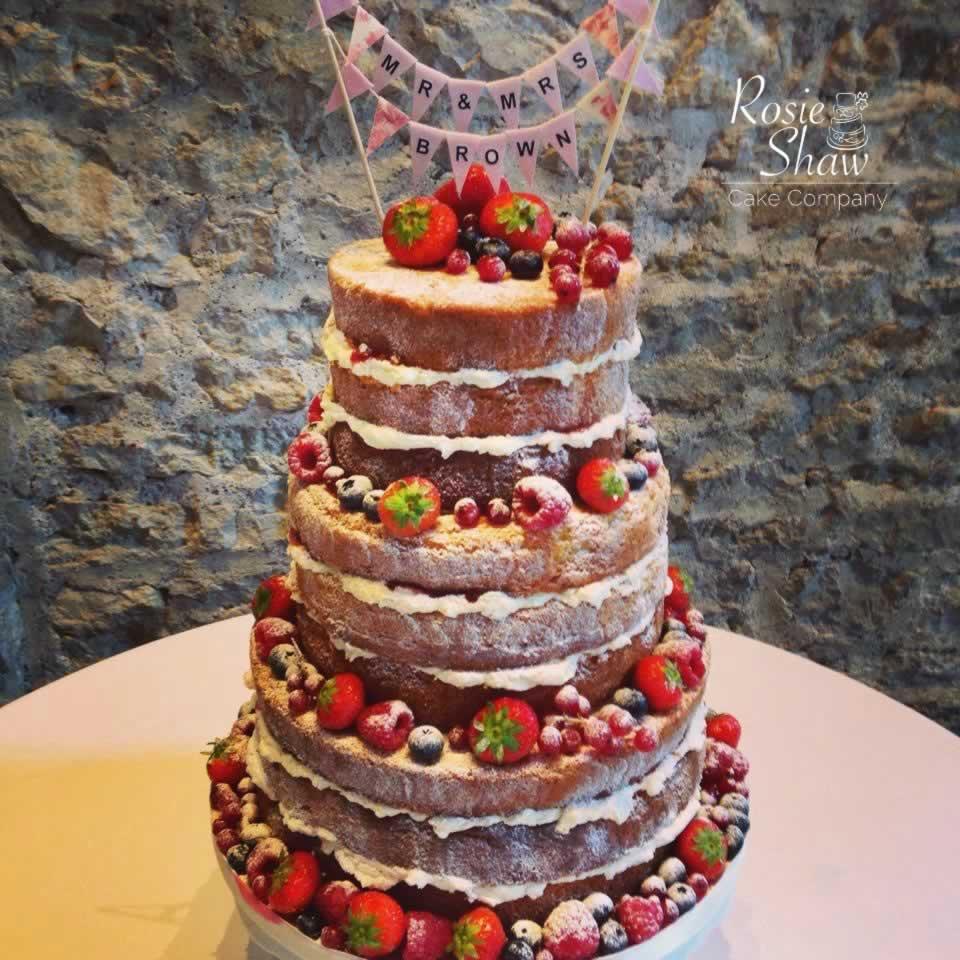 2 Naked Wedding Cakes Rosie Shaw Cake Company Bristol