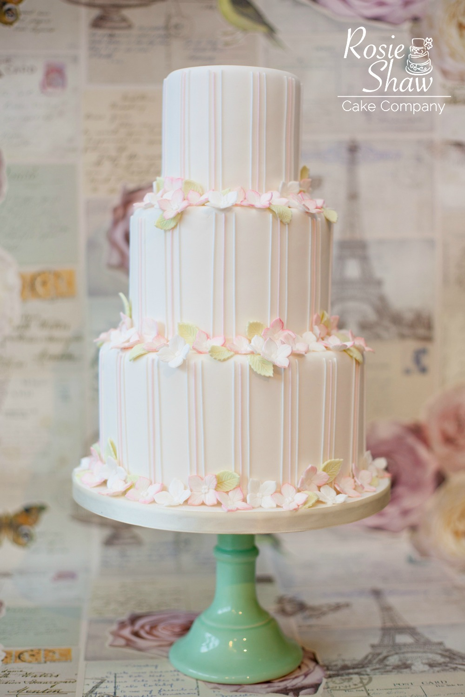Wedding Cake with Stripes by Rosie Shaw, Bristol | 1000 x 1500 jpeg 221kB
