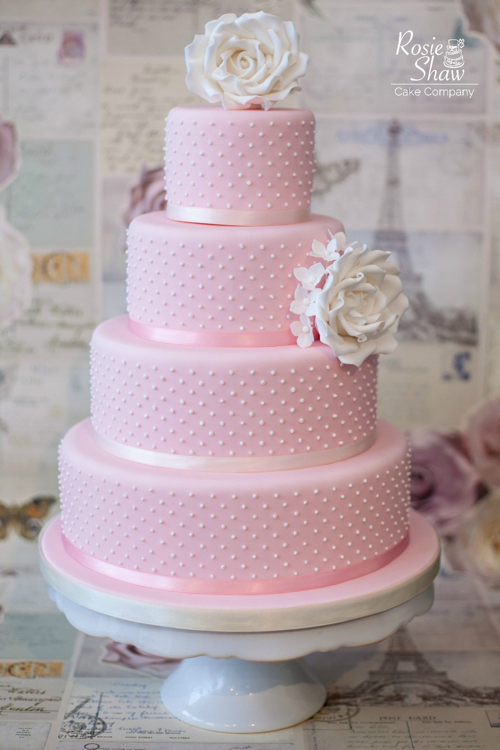 Pink Wedding Cake By Rosie Shaw Bristol