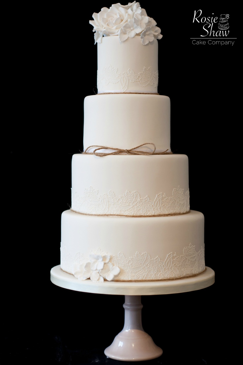 Lace Designs For Wedding Cakes