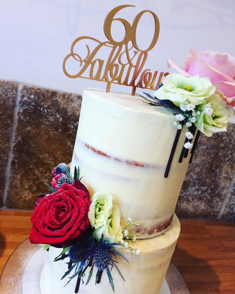 60 And Fabulous Birthday Cake