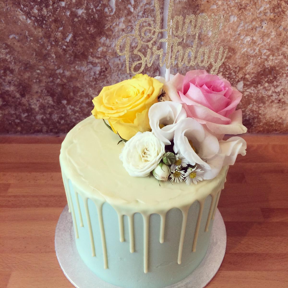 Birthday Drip Cake White Chocolate Rosie Shaw Cake Company Bristol