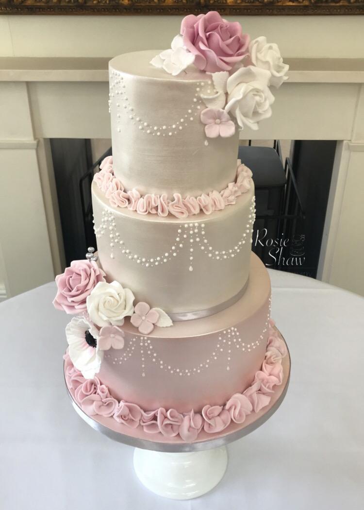 Shades Of Pink Wedding Cake Rosie Shaw Cake Company Bristol